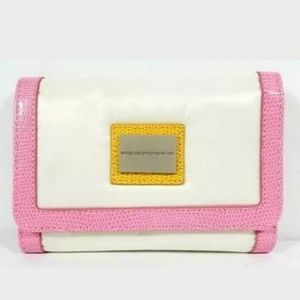 White Sateen Trifold Wallet